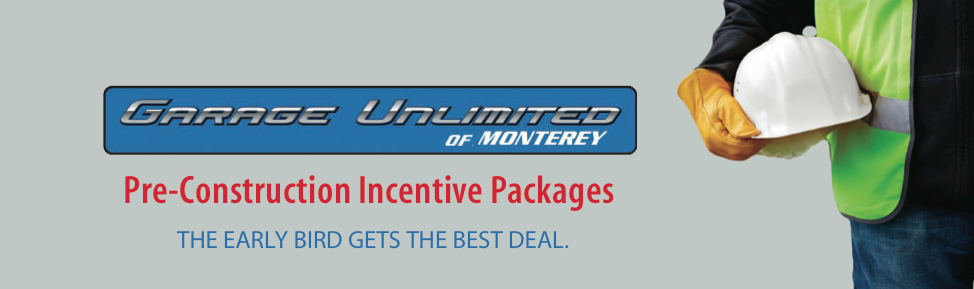 Pre-construction incentive packages for the early bird